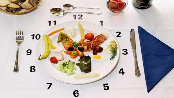 Chia nhỏ bữa ăn và ăn đúng giờ