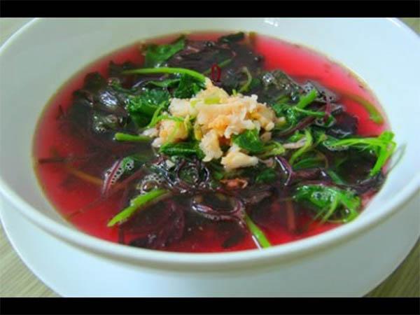 Canh tía tô, rau thơm là 1 trong những món ăn cho người tiểu đường