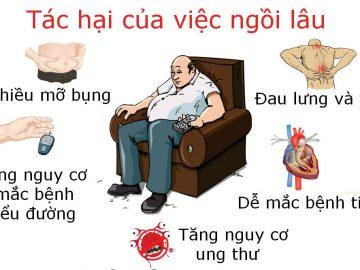 Nguy cơ mắc bệnh tiểu đường khi ngồi quá lâu và có nguy cơ tử vong cao