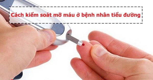 mỡ máu ở bệnh nhân tiểu đường